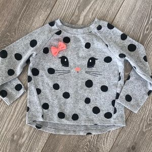 H&M leopard print sweater with bow